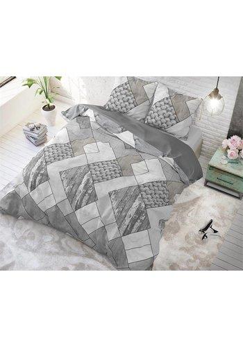 Sleeptime Dekbedovertrek Knitted Shapes grijs