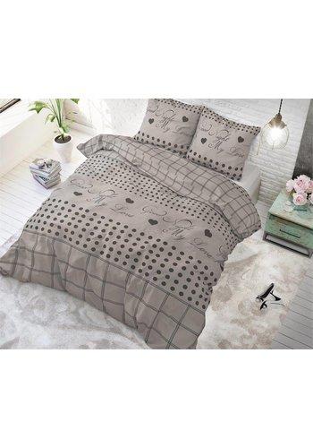 Sleeptime Dekbedovertrek Goodnight my Love 2 taupe