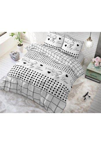 Sleeptime Bettbezug Gute Nacht meine Liebe 2 Weiß