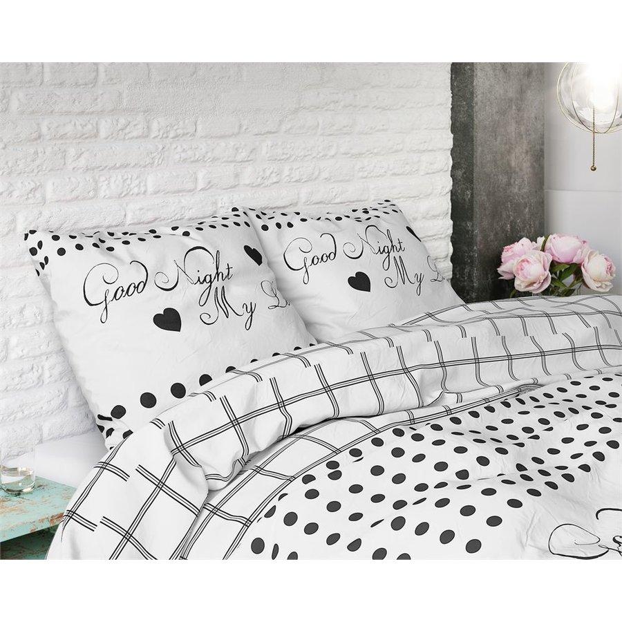 Bettbezug Gute Nacht meine Liebe 2 Weiß