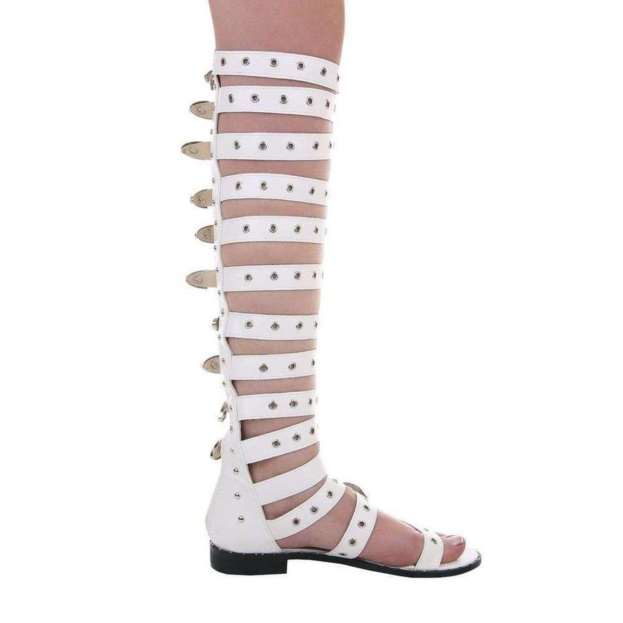 Hohe Damen Sandalen - weiß