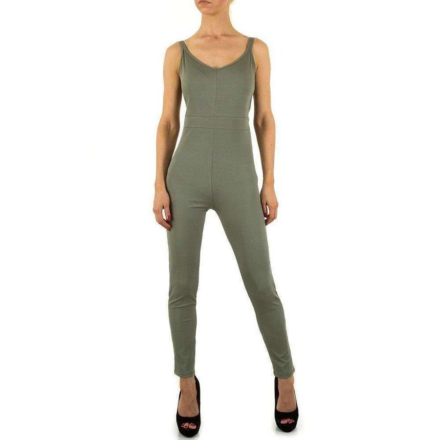Damen Jumpsuit - khaki