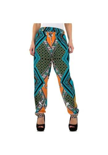 EMMA&ASHLEY Pantalon femme - turquoise / multi