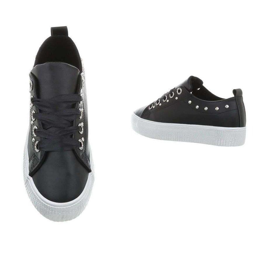 Low Damen Sneakers - schwarz