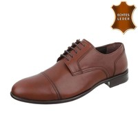 Herren Business Schuhe - braunes Leder