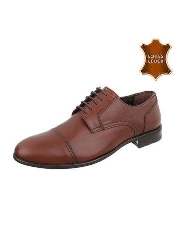 Neckermann Heren business schoenen - bruin leer