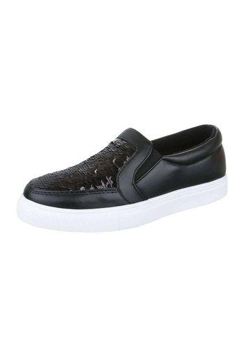Neckermann Dames casual schoenen met palletjes - zwart