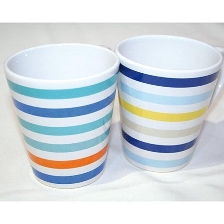 Kaffeetasse Strip Design 250ml, konische Form
