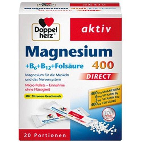 Dubbel Hart Doppelherz Magnesium + B6 + B12 direct 20 Port.