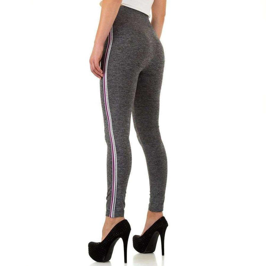 Damen Leggings Gr. eine Größe - grau / violett