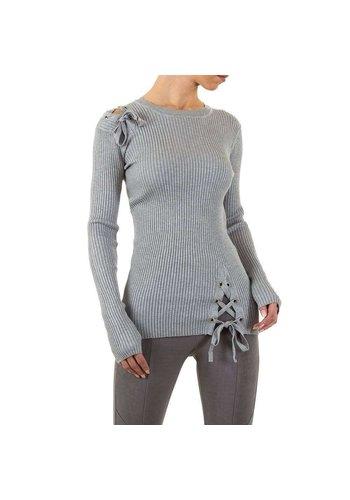EMMA&ASHLEY Dames Sweater Gr. een maat - grijs