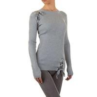 Damen Pullover Gr. eine Größe - grau