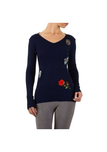 EMMA&ASHLEY Dames Sweater Gr. één maat - DK.blauw