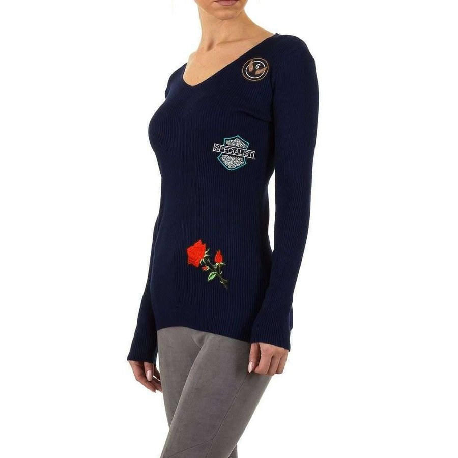 Damen Pullover Gr. Einheitsgröße - DK.blau