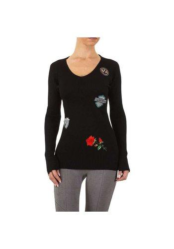 EMMA&ASHLEY Dames Sweater Gr. één maat - zwart