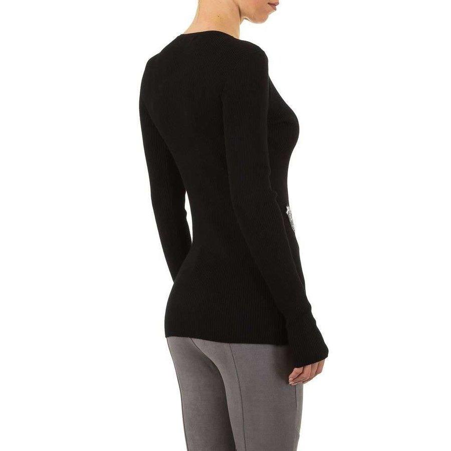 Damen Pullover Gr. eine Größe - schwarz