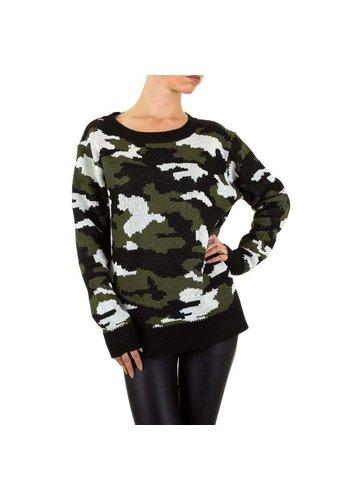EMMA&ASHLEY Dames Sweater Gr. één maat - camouflage