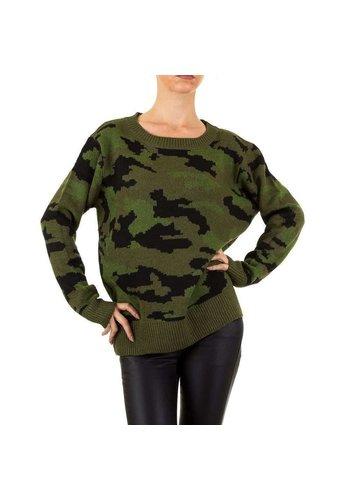 EMMA&ASHLEY Dames Sweater Gr. een maat - legergroen