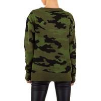 Damen Pullover Gr. Einheitsgröße - Armee grün