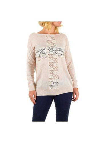 Panacher Dames Sweater Gr. een maat - crème