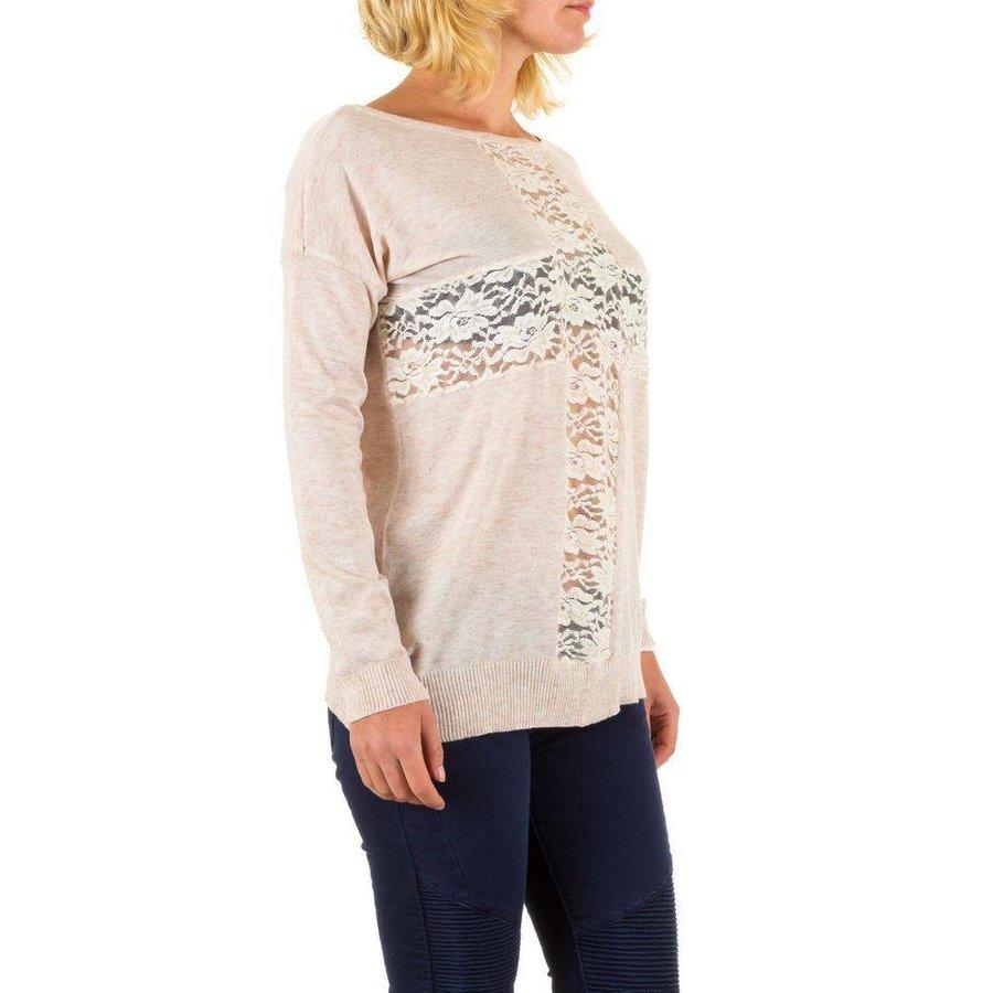 Damen Pullover Gr. eine Größe - Creme