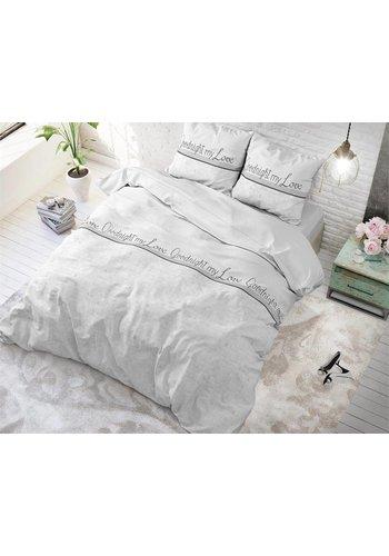 Sleeptime Housse de couette Goodnight my Love White Sleeptime - Coton mélangé