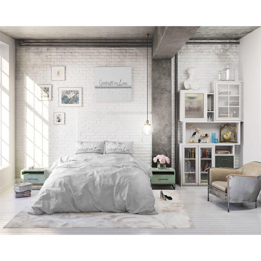 Bettbezug Goodnight my Love White Sleeptime - Baumwolle gemischt