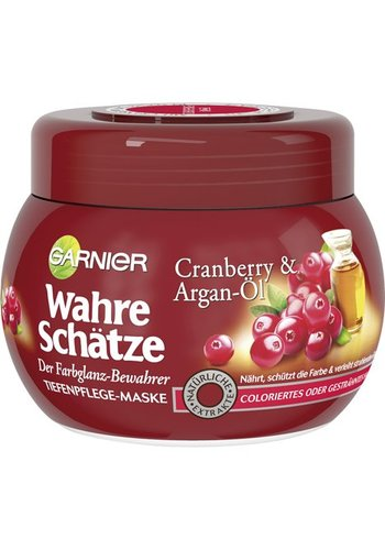 Garnier diep voedende haarmasker -True Treasures-  Cranberry & Argan Oil 300ml