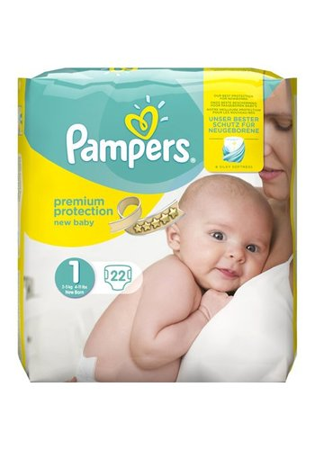 Pampers Pampers Premium Protection New Baby maat1 en 22 stuks