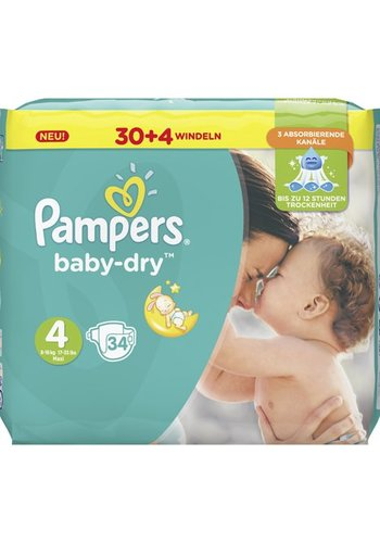 Pampers Pampers Luiers Baby Dry Size 4 Maxi (8-16kg)