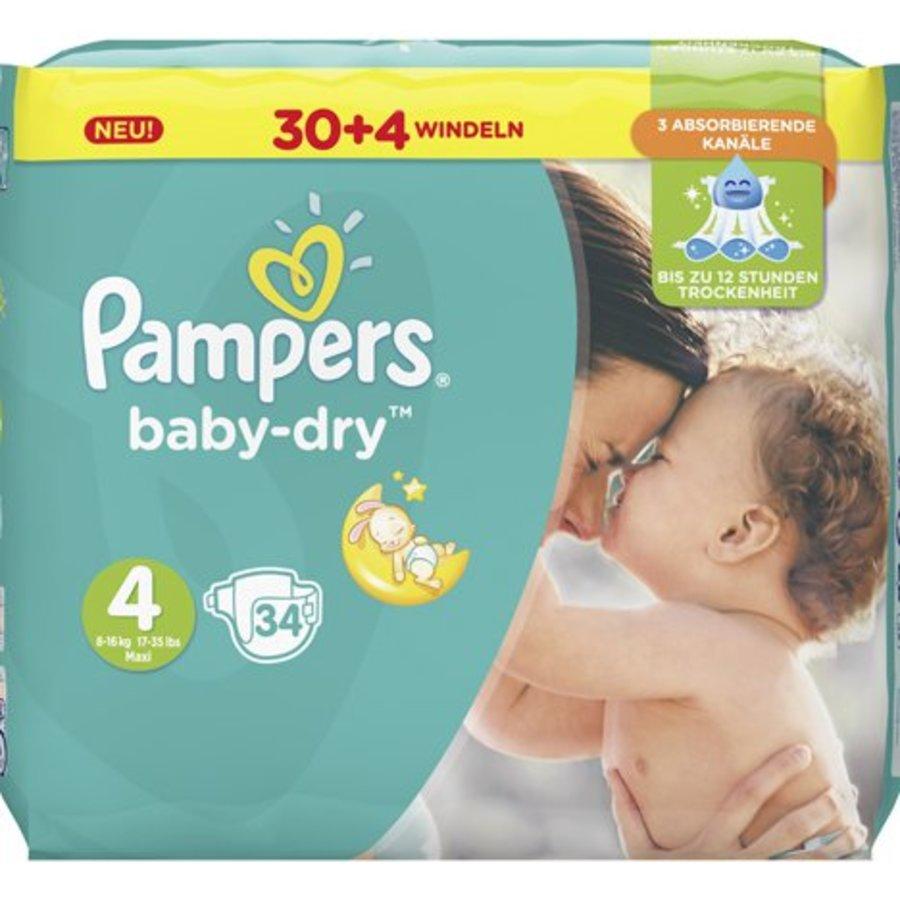 Pampers Babywindeln Baby Dry Größe 4 Maxi (8-16kg)