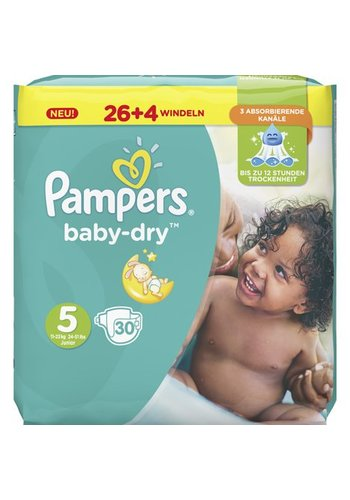 Pampers Pampers Diapers Baby Dry Taille 5 Junior (11-23kg)