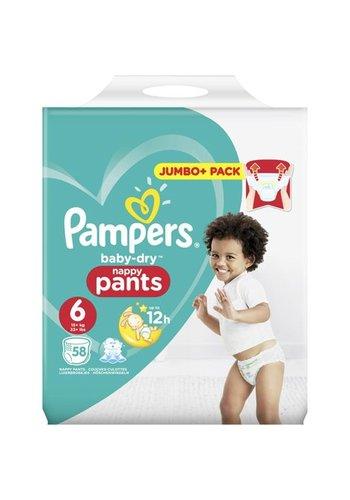 Pampers Pampers Baby Dry Broek maat 6 Extra Large 58 stuks