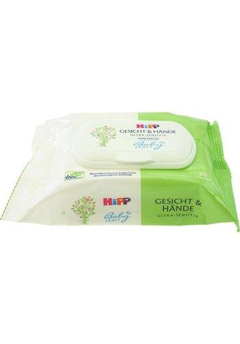 Hipp Biologische Babydoekjes voor gezicht & handen 20-stuks