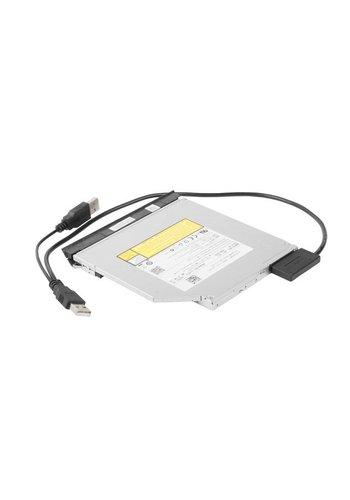 Cablexpert Externer USB auf SATA Adapter für Slim SATA SSD, DVD