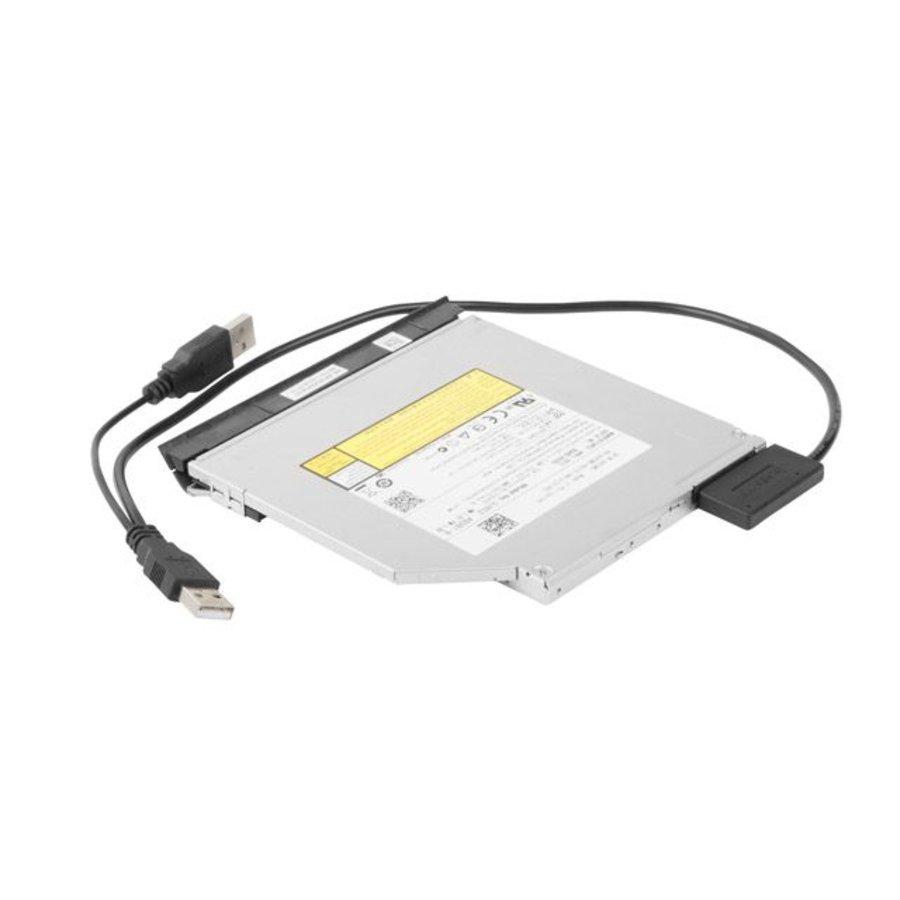 Externer USB auf SATA Adapter für Slim SATA SSD, DVD