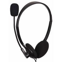 MHS-123 Stereo-Headset mit Lautstärkeregler, schwarz