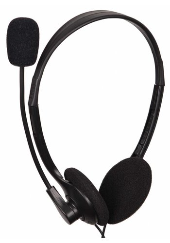 Gembird MHS-123 Stereo-Headset mit Lautstärkeregler, schwarz