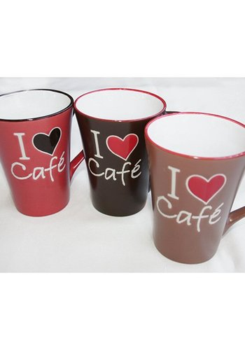 Neckermann Koffiemok XL 360ml met I ♥ Café-Design