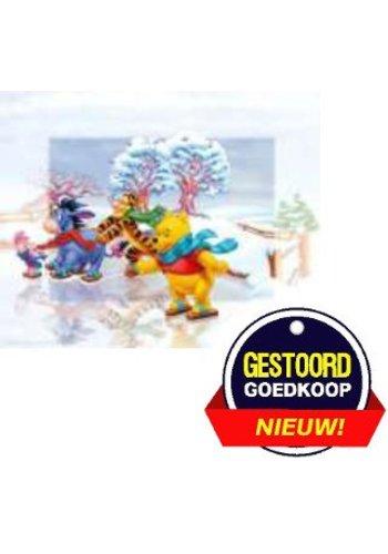 Disney Winnie the Pooh Poster - schaatsbaan  - 13x18 cm