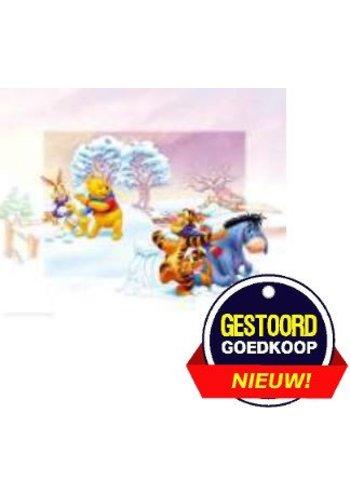 Disney Winnie the Pooh Poster - dansen op het ijs - 13x18 cm