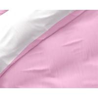 Bettbezug Twin Face Pink / Weiß