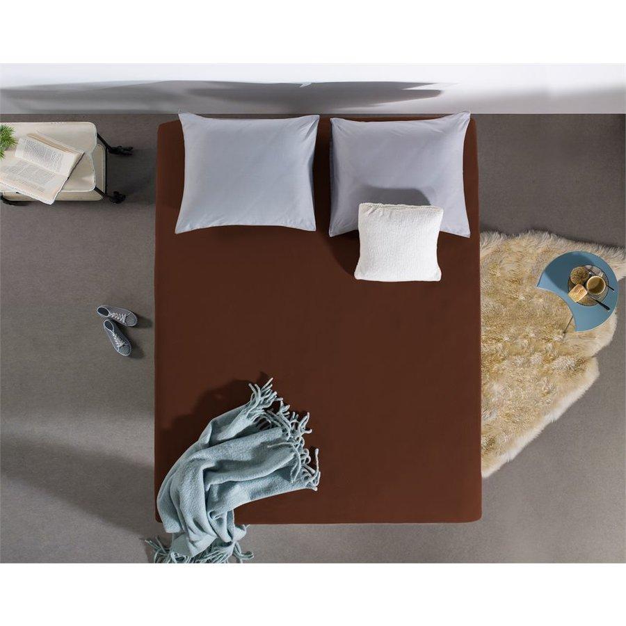 Spannbettuch Jersey 135 gr. Homecare - Jersey - Braun