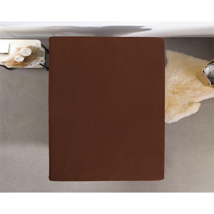 Hoeslaken Jersey 135 gr. bruin