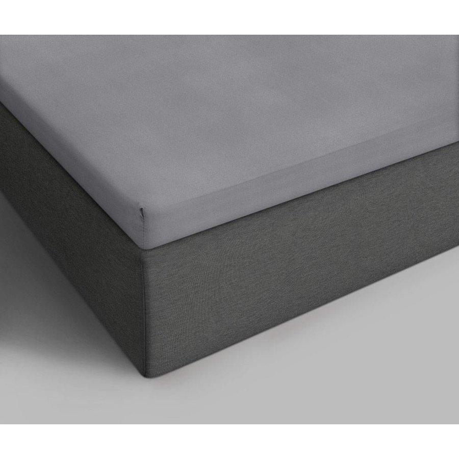Katoenen Topper Hoeslaken Grey