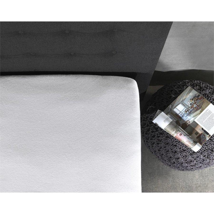 Molton Topper Spannbetttuch Weiß