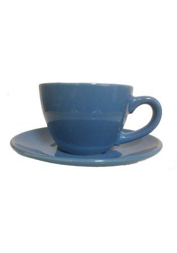 Neckermann Kop en schotel laag licht-blauw 180 ml