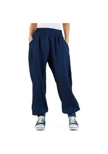 LE LYS Dames harlembroek met jeanslook Gr. een maat - DK.blue