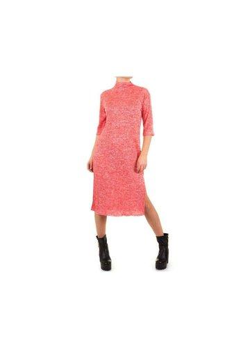 SHK MODE Damen Kleid von Shk Fashion Einheitsgröße für alle rot