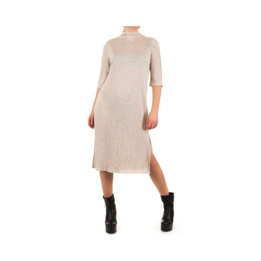 Damen Kleid von Shk Fashion Einheitsgröße für alle Größe - beige